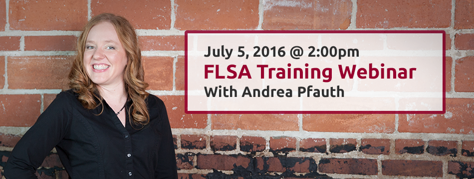 FLSA Overtime Webinar with Andrea Pfauth